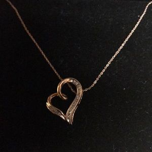 10 Kt rose gold necklace